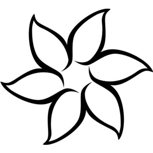 Flower Outline Clip Art-Flower Outline clip art-8