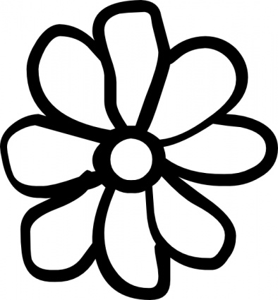Flower outline clipart - .
