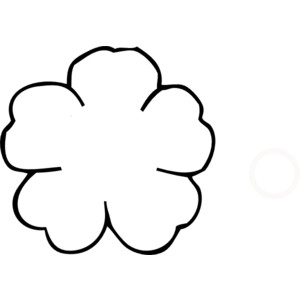 Flower Outline No Center clip art