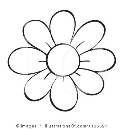 Flower Outline Printable .