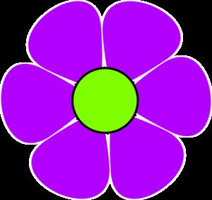Flower Power Purple Clip Art