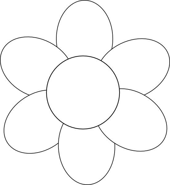 Flower Template Free Printable - Google -flower template free printable - Google Search-14