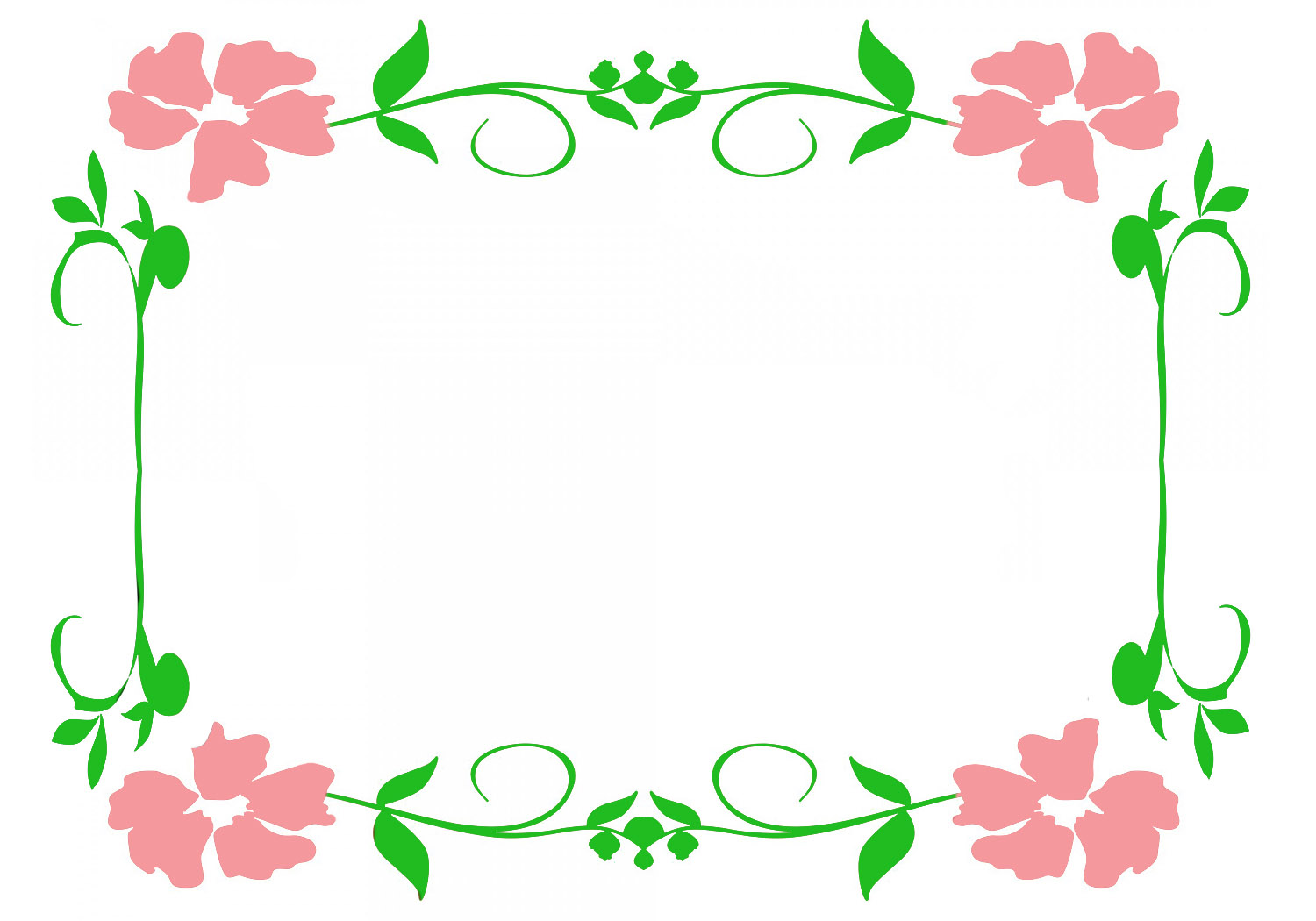 Flowers Borders Clipart-Clipartlook.com-1500