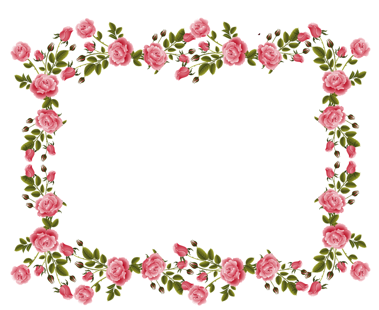 Clipart Flower Border Clipart Panda Rose pink rose border png border clipart  png free clip art images freeclipartpw pink roses decoration this image as  ClipartLook.com