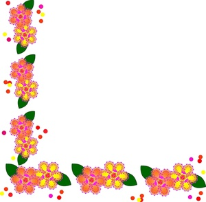 Clipart Info - Flowers Borders Clipart