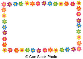 . ClipartLook.com colorful flowers - colorful flower border and frame