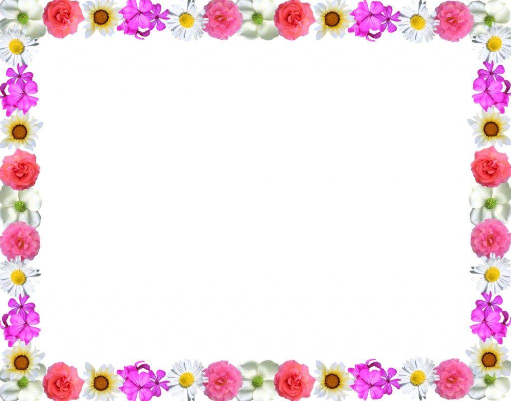 free flower border clipart -  - Flowers Borders Clipart