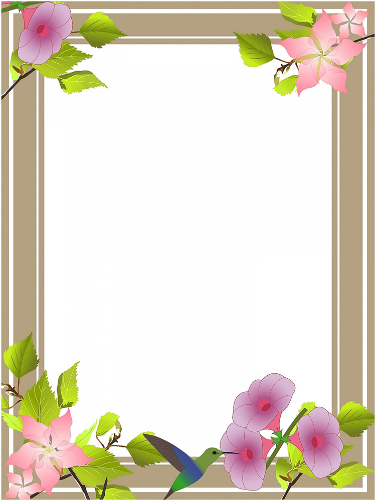 oval flower frame · clip art borders with flowers