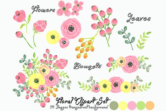 Flowers Clip Art Floral .-flowers clip art floral .-5