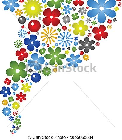 Abstract Flower Color Background - csp5668884