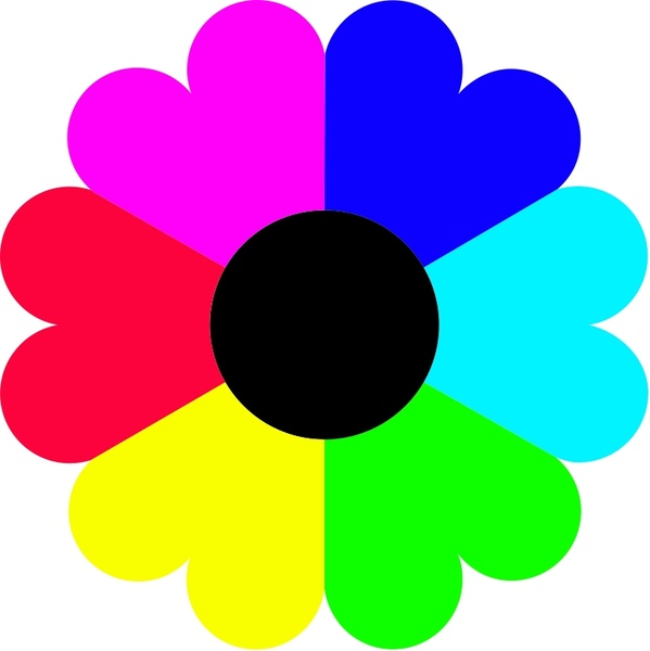 Flower 7 colors Free vector 36.37KB