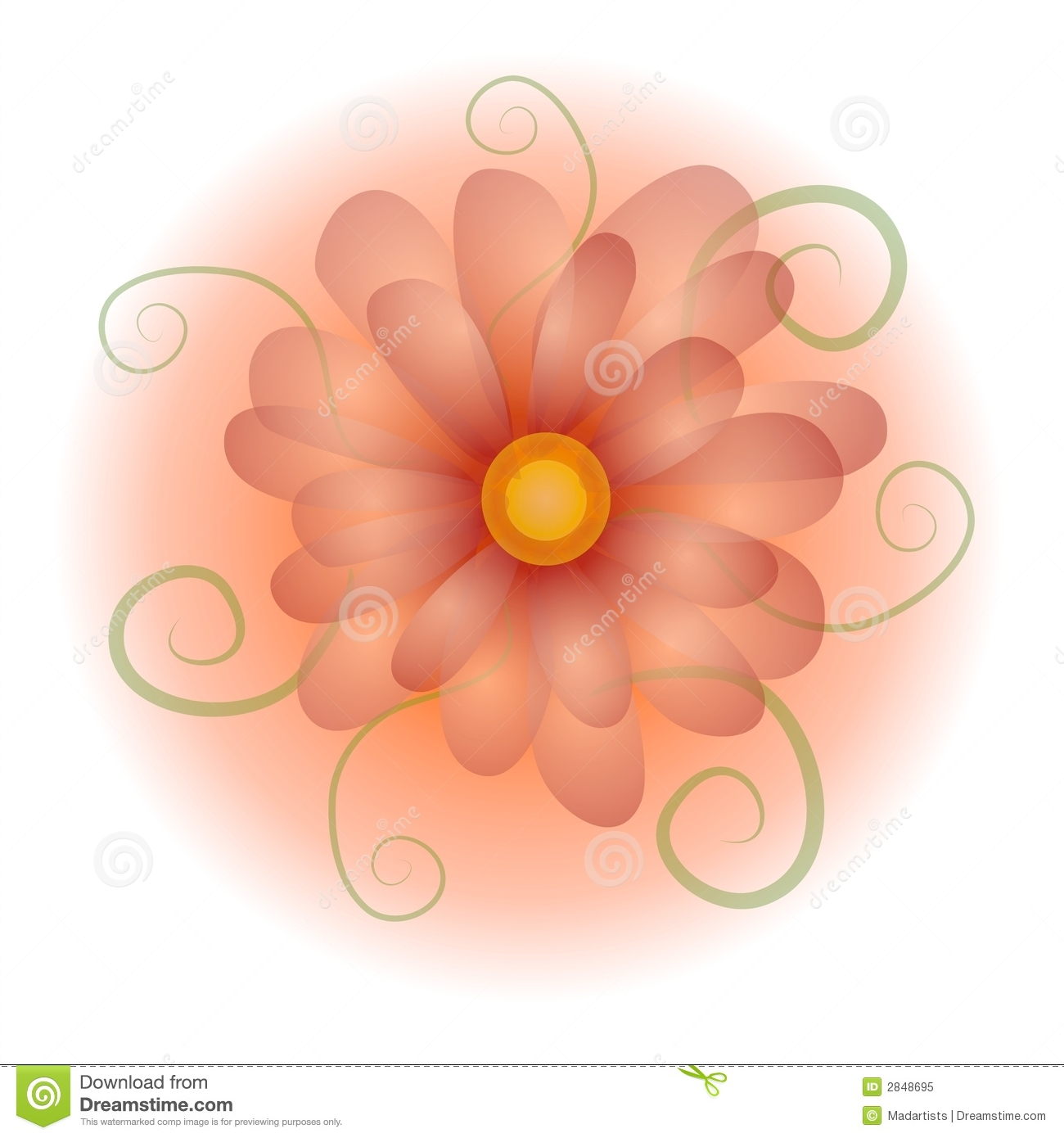Pastel Opaque Flower Clip Art