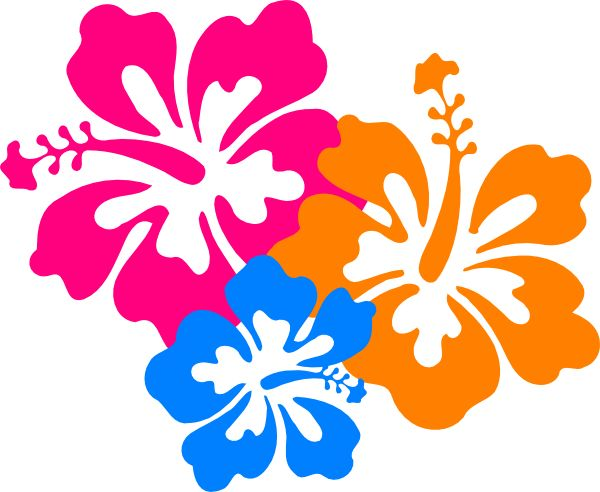 Flowers hawaiian flower clip art hibiscus flower 6 clip art vector