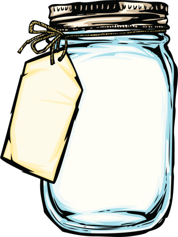 Flowers In Mason Jar Clipart .