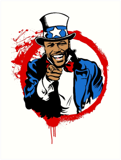 Floyd Mayweather Uncle Sam Cartoon (Red Circle) by turntupgear