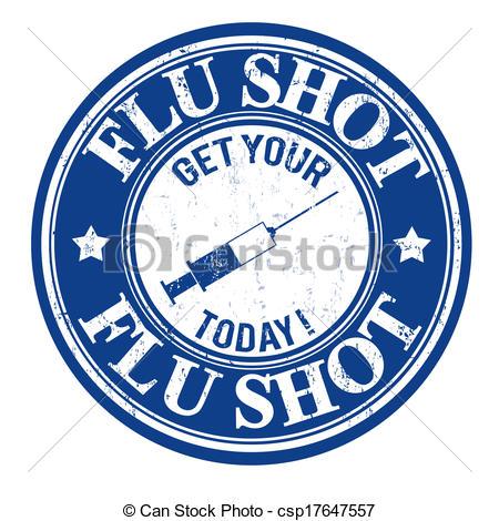 ... Flu shot stamp - Flu shot, get your today grunge rubber.