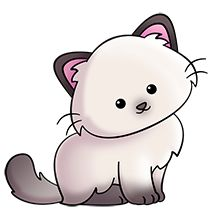 Fluffy color point. KITTY CAT CLIP ART