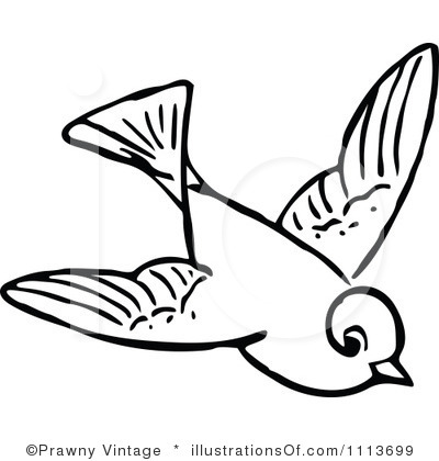 Fly Clipart Black And White F - Bird Clipart Black And White