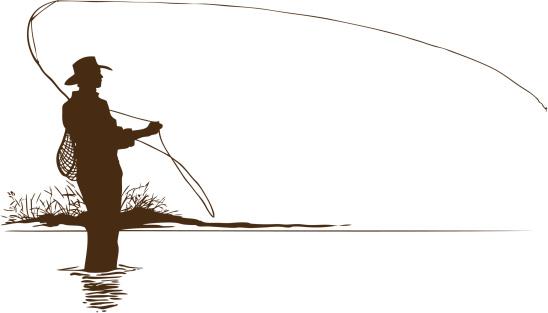 Fly Fishing Clip Art ... Fly Fisherman S-Fly Fishing Clip Art ... Fly Fisherman Silhouette .-3