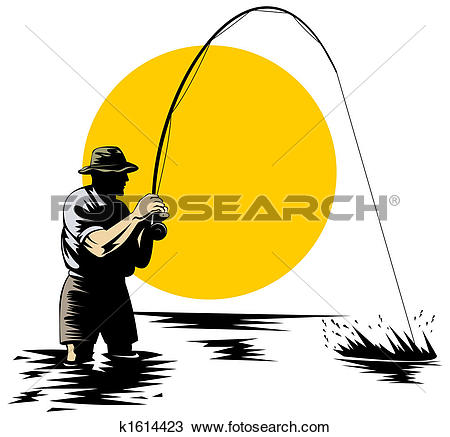 Fly fishing - Fly Fishing Clip Art