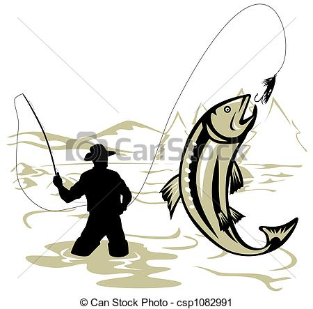 ... Fly Fishing - Illustration On Fly Fi-... Fly fishing - Illustration on fly fishing-11