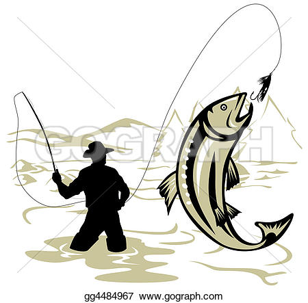 Fly fishing u0026middot; Fly  - Fly Fishing Clip Art