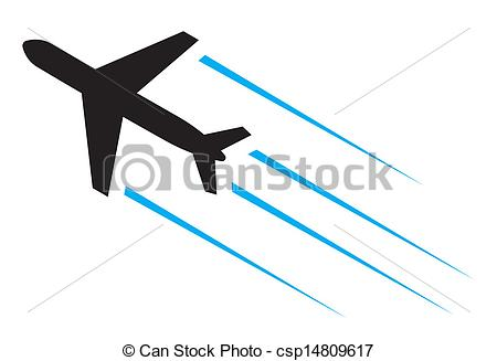 Flying airplane Clipartby ...