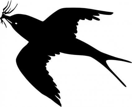 Flying Bird Silhouette Clipart .-Flying Bird Silhouette Clipart .-12