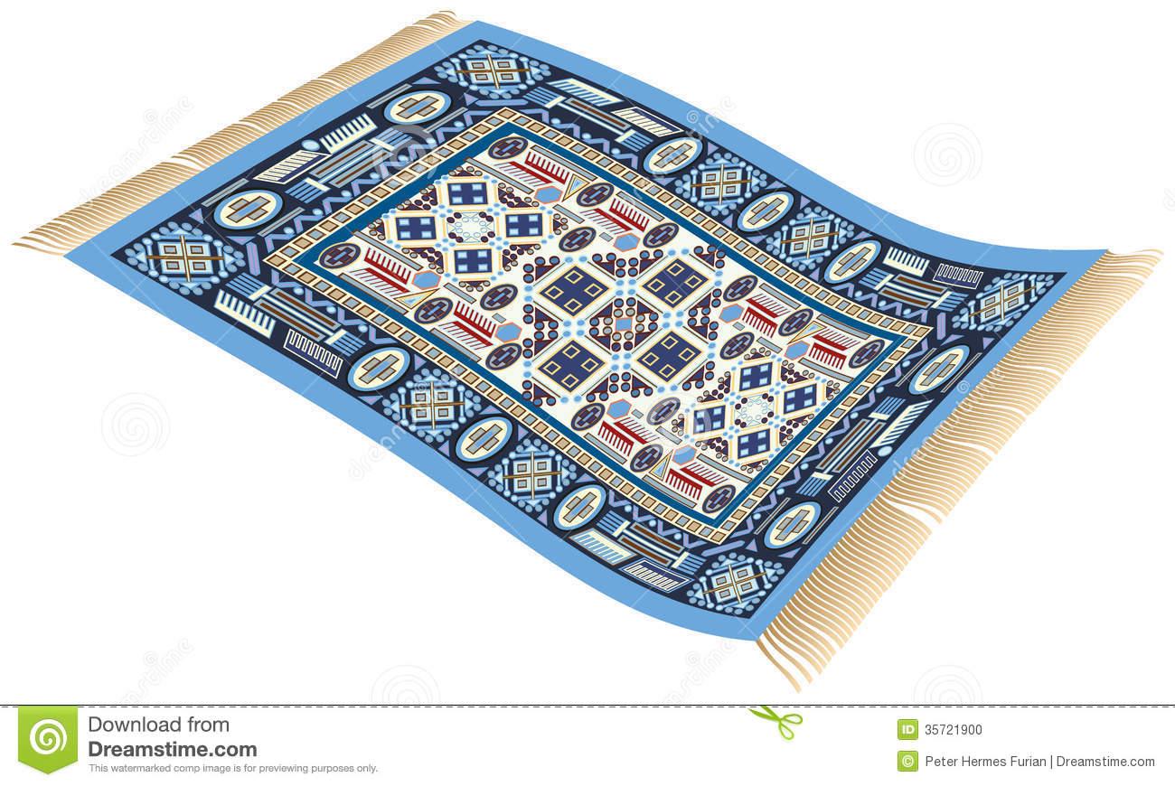 Flying Carpet Clipart Magic Carpet Blue Stock Photo