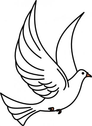 Flying Dove Clip Art Free Vector In Open-Flying Dove Clip Art Free Vector In Open Office Drawing-12