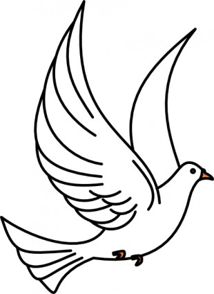 Flying Dove clip art Vector clip art - Free vector for free download