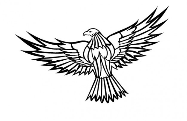 Flying eagle clipart Free Vector