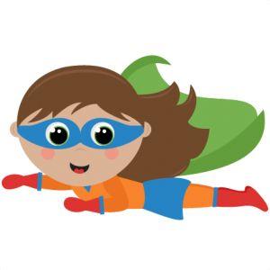 Flying Girl Superhero Girl SVG cutting files for scrapbooking superhero clipart clip art cute free svg