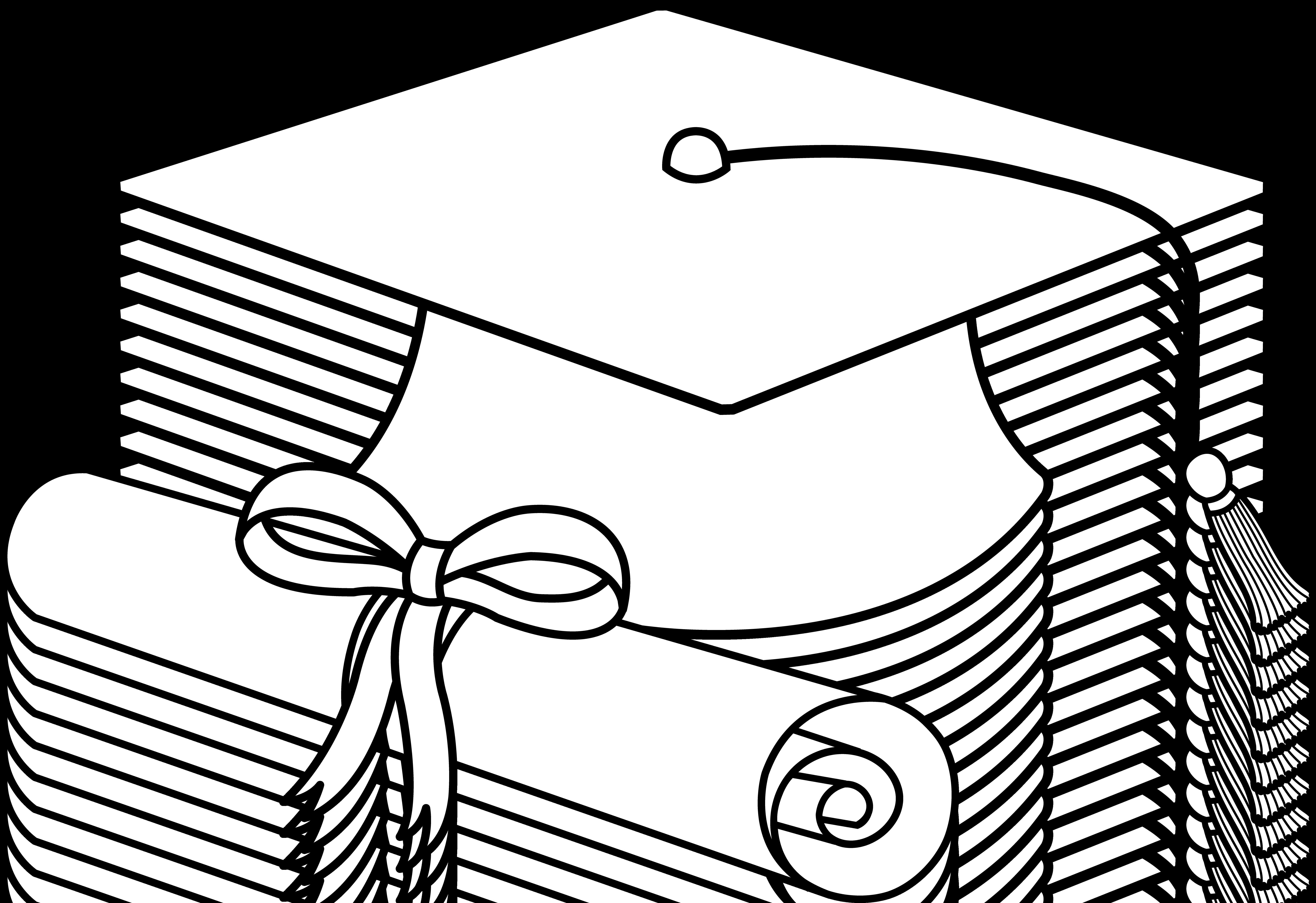 Flying Graduation Caps Clip Art | Graduation Cap Line Art - Free Clip Art | Stuff to Buy | Pinterest | Clip art, Graduation and Clip art free