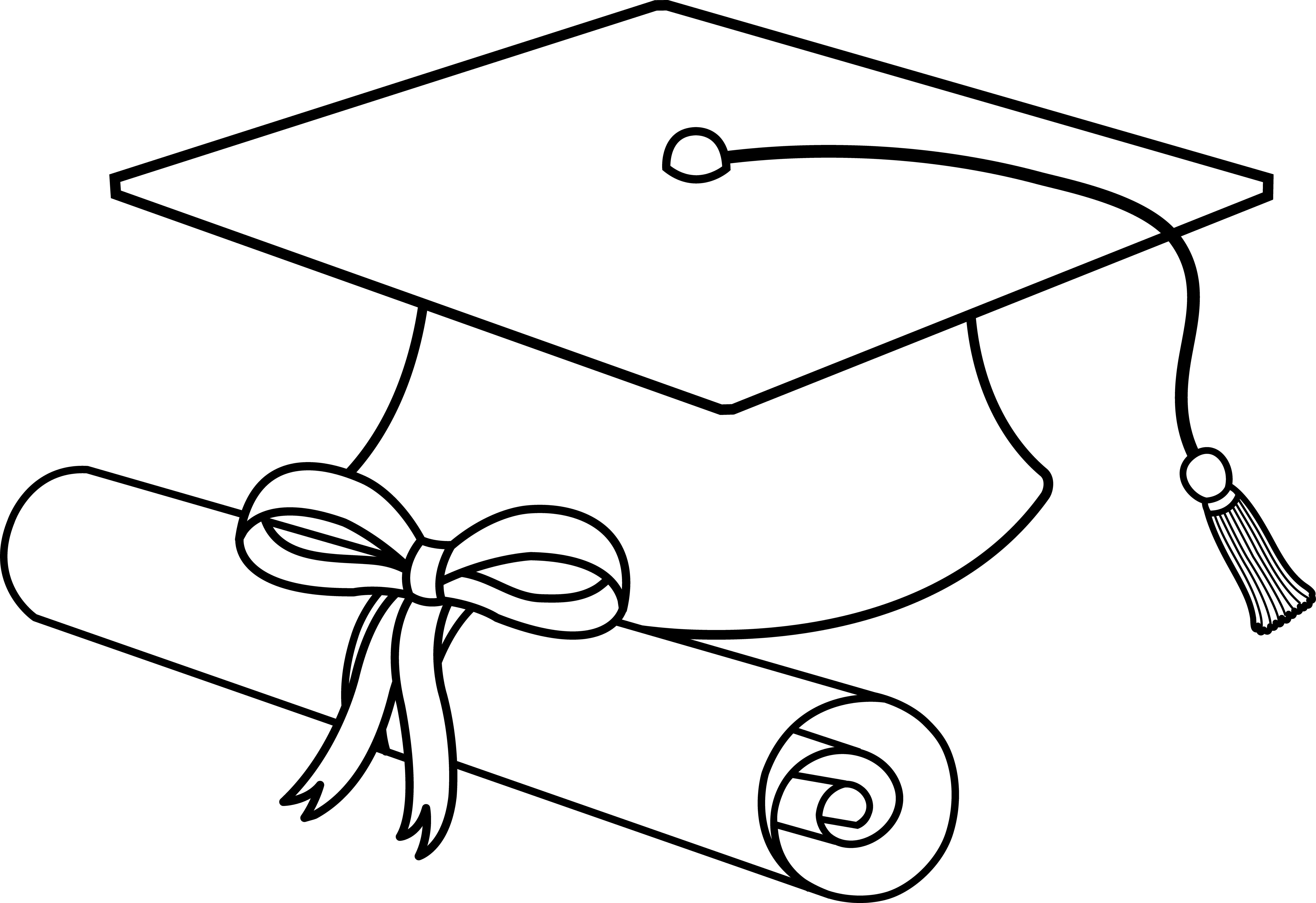 Flying Graduation Caps Clip Art | Graduation Cap Line Art - Free Clip Art | Stuff to Buy | Pinterest | Clip art, Graduation and Clip art free