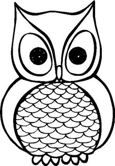 Black and White Owl. Black an