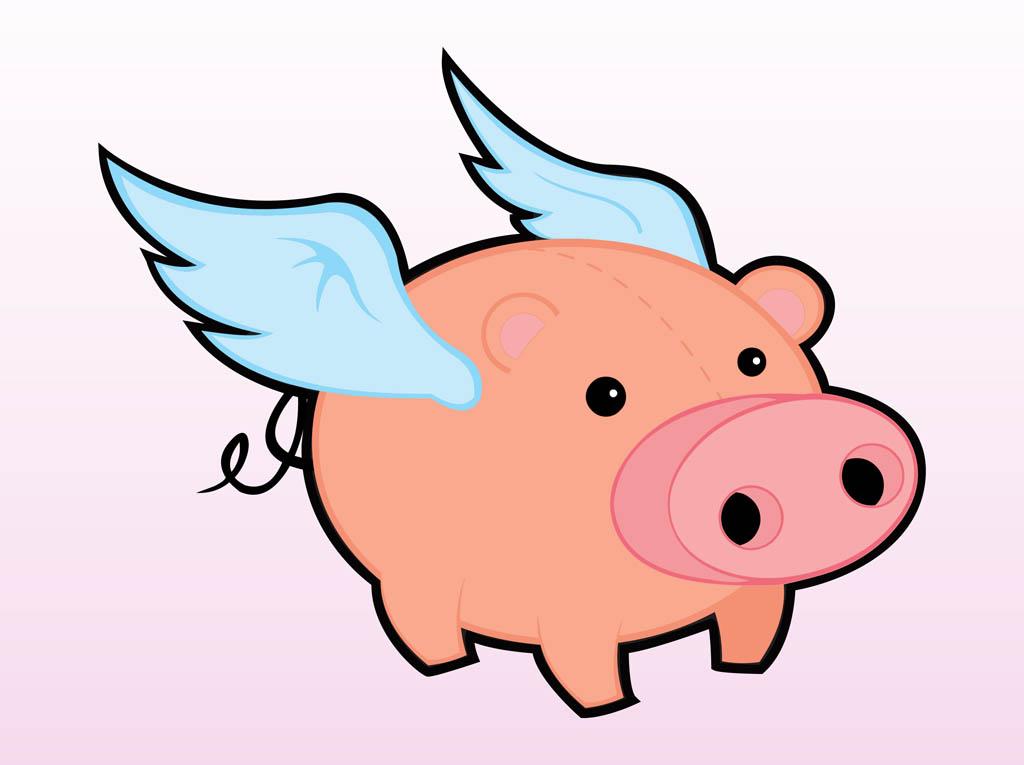 Flying Pig Clip Art - Flying Pig Clipart