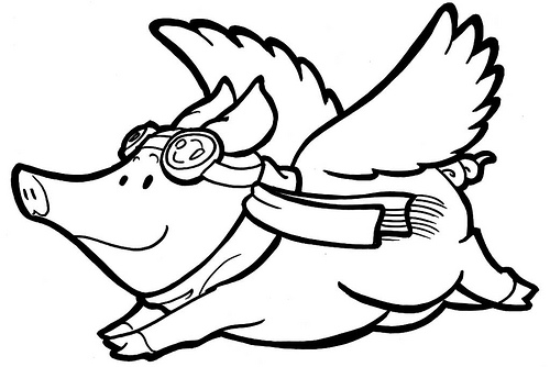 ... Flying Pig Clip Art ...