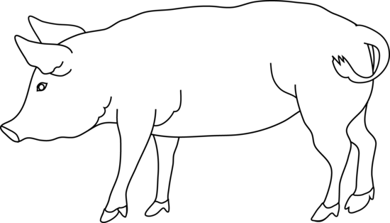 Flying Pig Clipart Image - Pig Clipart Black And White