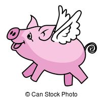 Flying Pig EPS ... - Flying Pig Clipart