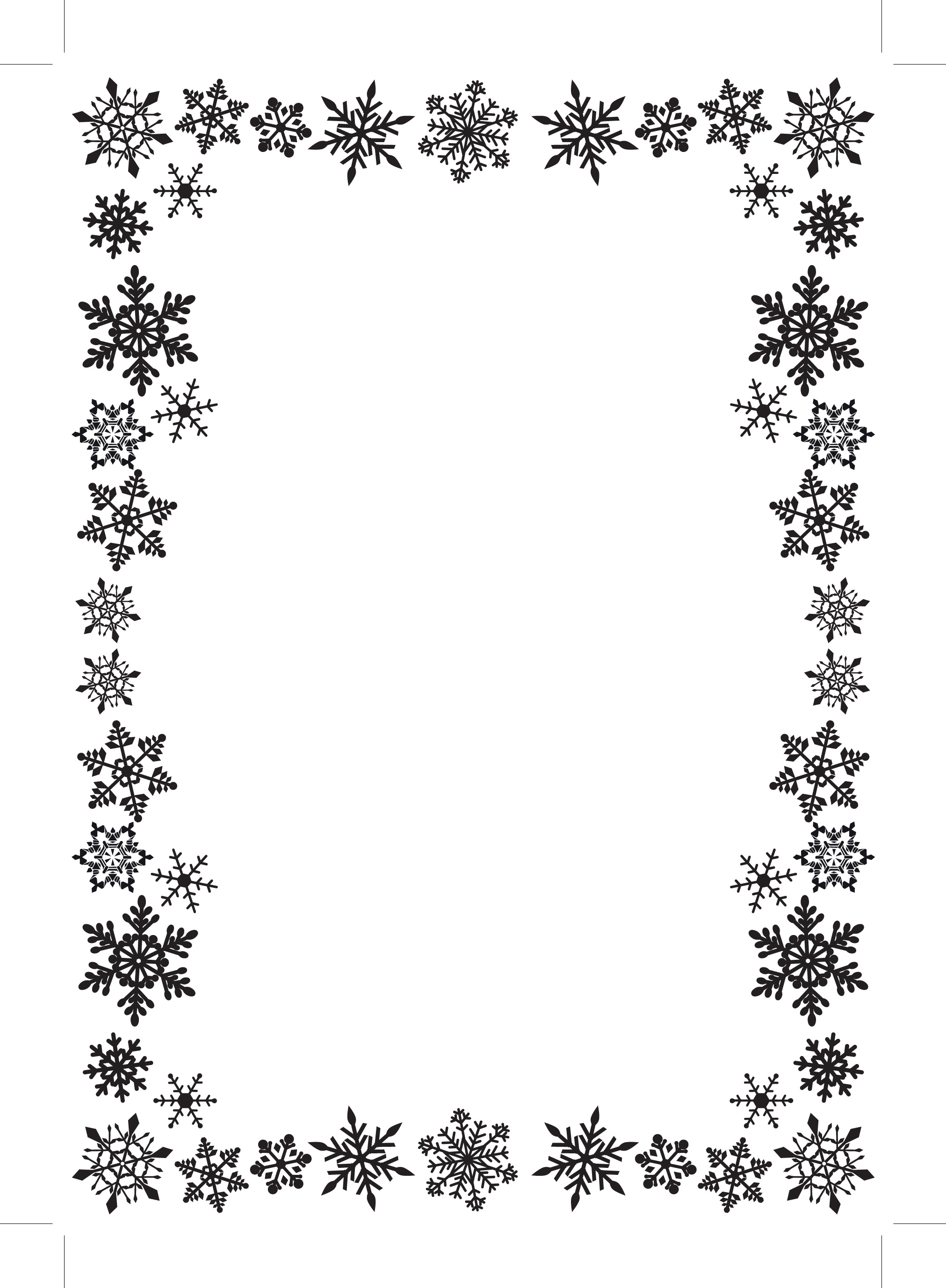 Foiled Card Blanks And Envelo - Free Snowflake Border Clipart