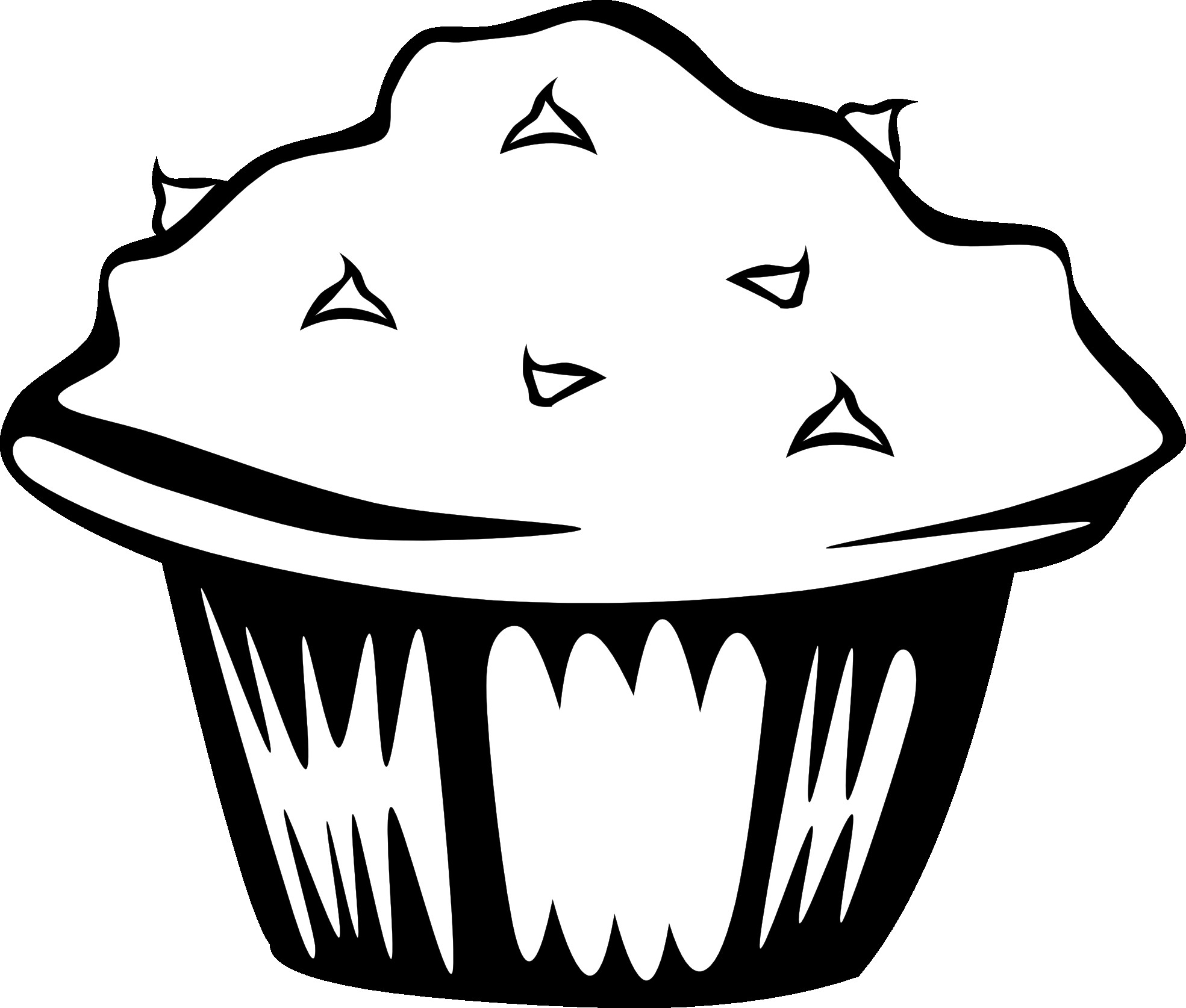 Food Clipart Black And White-food clipart black and white-7