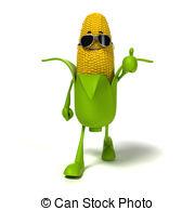 ... Food Character - Corn Cob - 3d Rende-... Food character - corn cob - 3d rendered illustration of a.-12
