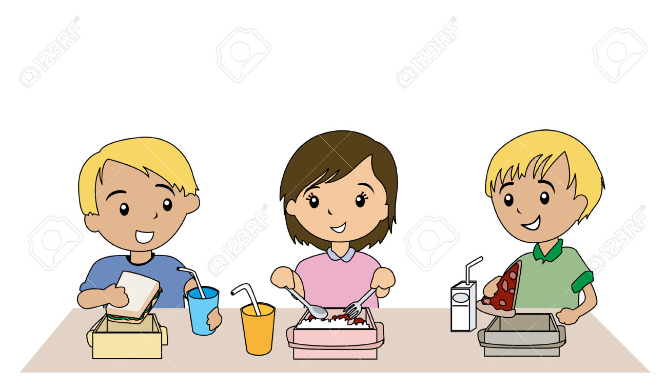 food - Children Eating Clipart
