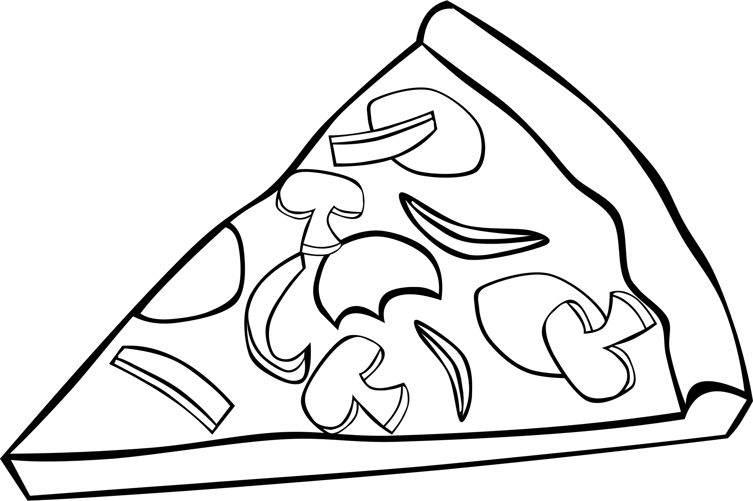 Food Clipart Black And White-food clipart black and white-12