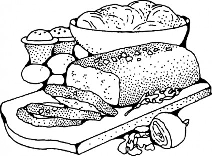 Food Clipart Black And White .-Food Clipart Black And White .-13
