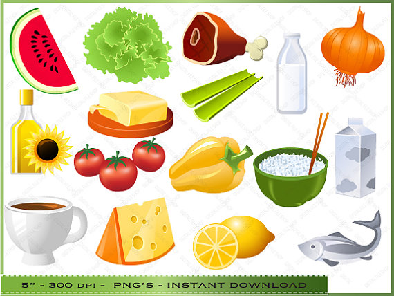 Food Clipart Clip Art Of Health Healthy Foods Commercial Use