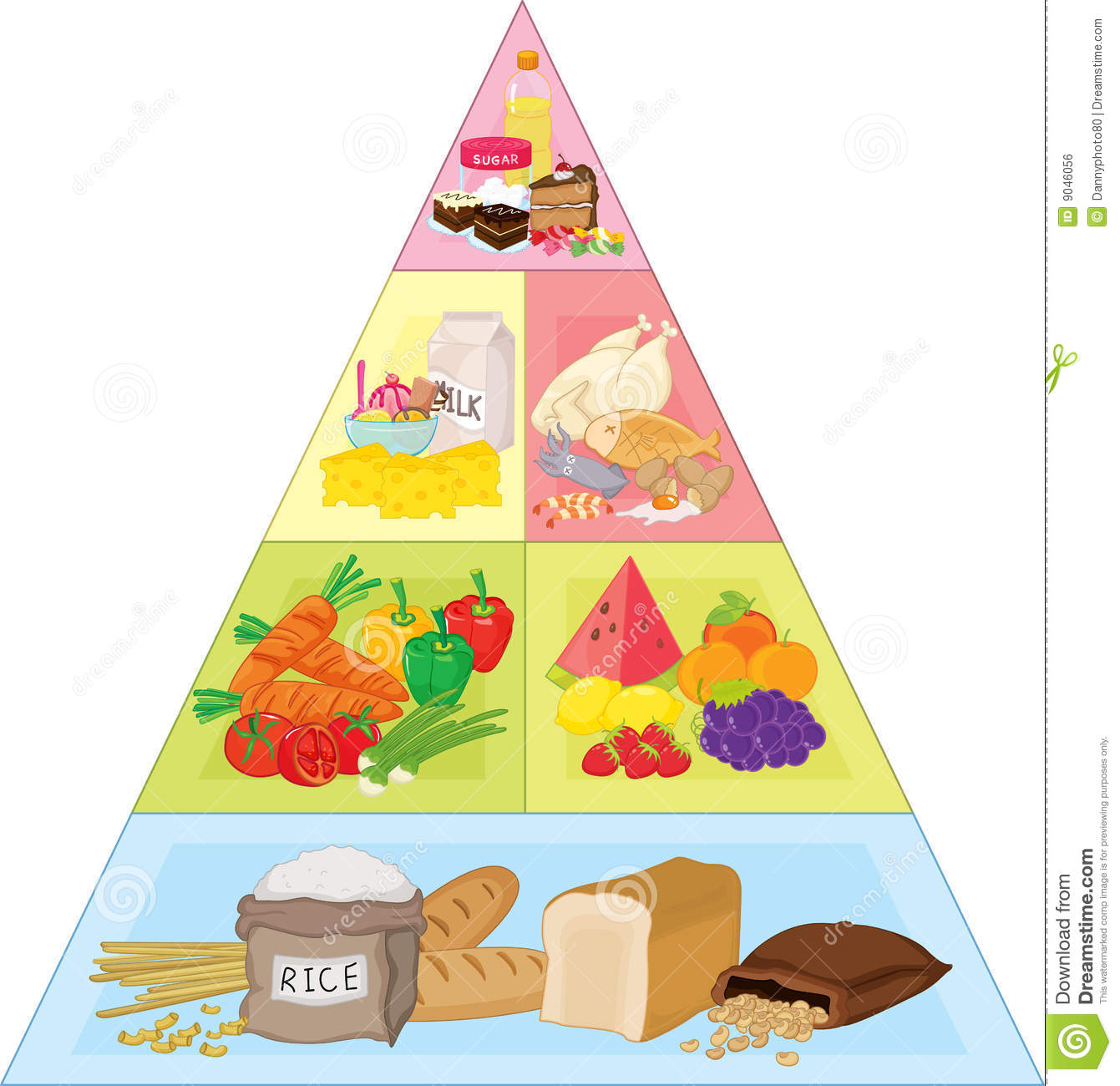 Food Pyramid Royalty Free .-Food Pyramid Royalty Free .-6