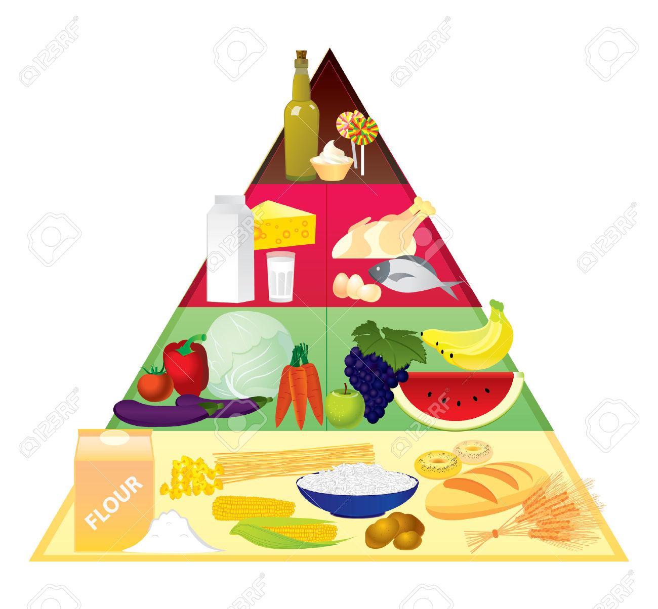 Food pyramid Stock Vector - .