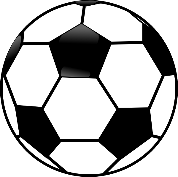 Football Clipart Black And White-football clipart black and white-6